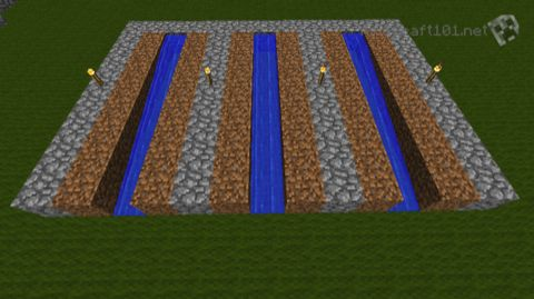 Simple sugar cane farm