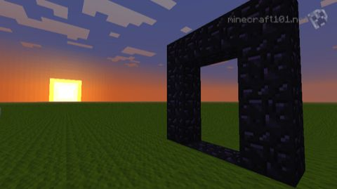 Infinite Obsidian in minecraft